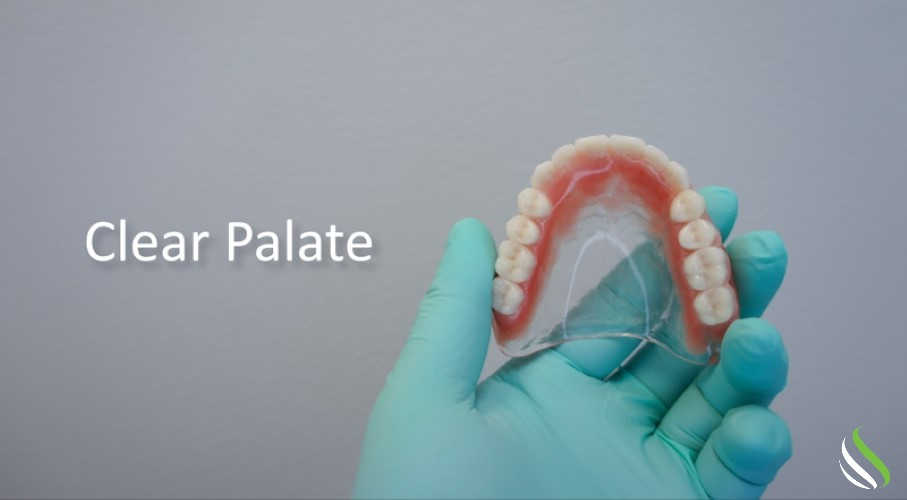 suction dentures - clear palate